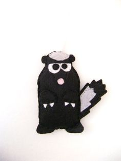 Felt Holiday Ornament   Archer the Honey Badger  by RedMarionette, $12.00