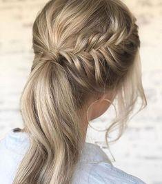 Braids to ponytail