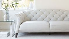Large Modern Leather Two Seater Sofa