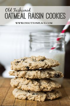 Easy, hearty and moist. These Old Fashioned Oatmeal Raisin Cookies make the perfect snack or breakfast on the go!