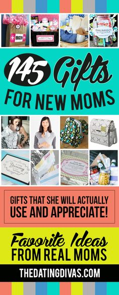 145 gifts for every new mom on your list! This is such a great list!! LOVE!