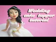 bride sugar paste wedding cake topper fondant - tutorial sposa in pasta di zucchero - YouTube