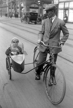 Retro Bike with side car