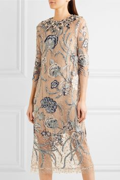 Biyan | Adina embellished embroidered Swiss-dot tulle gown | NET-A-PORTER.COM