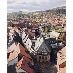 View from the market church of the historic town of Goslar, Germany.
