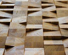 just-good-design: 'Wedge' wall covering - Jamie Beckwith Timber Flooring, Wood Paneling, Timber Walls, Panelling, Wall Patterns, Textures Patterns, Interior Walls, Interior Design, Wall Cladding