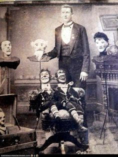 ventriloquists dummies have always creeped me out.  Spooky cabinet card old photo.