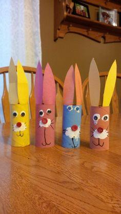 basteln mit klopapierrollen diy ideen deko ideen basteln mit kindern hasen