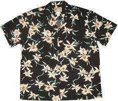 Paradise Found [Star Orchid / Black] - Men's Hawaiian Shirts - Hawaiian Shirts | AlohaOutlet SelectShop