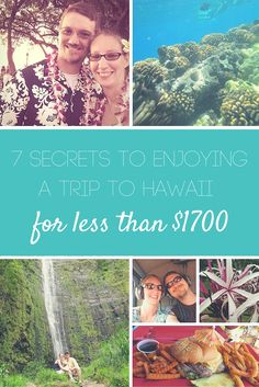 For our five year anniversary, my husband and I were asked to join our friends for a trip to Hawaii. They were celebrating their 10 year anniversary. How could we say no to that?! Fortunately, they asked us a year in advance—the first step in making it possible for less than $1700! What were our secrets and ideas for saving money and budget traveling . . . ?