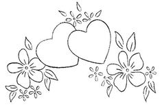 Embroidery Hearts, Embroidery Patterns Free, Hand Embroidery Designs, Vintage Embroidery, Ribbon Embroidery, Cross Stitch Embroidery, Embroidery Tattoo, Embroidery Monogram, Simple Embroidery