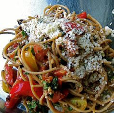 One Hot Stove: Summer Fare: Raw Pasta Sauce