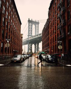 A rainy day in Brooklyn