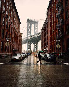 A rainy day in Brooklyn