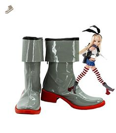 Kantai Collection Shimakaze Cosplay Shoes Boots Custom Made Low Heel - Telacos sneakers for women (*Amazon Partner-Link)