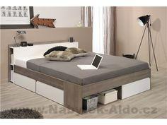 Parisot Most Wooden Bed Frame Diy Furniture Easy, Furniture Makeover, Cool Furniture, Bedroom Furniture, Bed Designs With Storage, Bed Frame With Storage, Upholstered Bed Frame, Headboard And Footboard, Double Bed Designs
