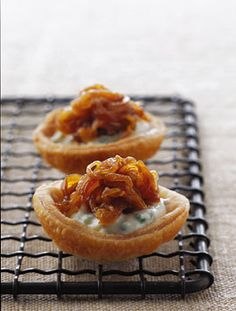 Caramelized Onion Tartlets Photo - Party Hors Doeuvres Recipe | Epicurious.com