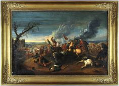 A dramatic representation of an 18th century battle. #battle #military #oilpainting