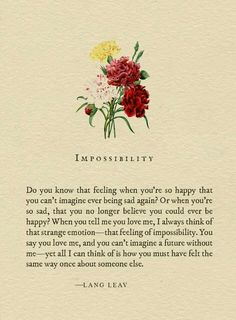 Impossibility - Lang Leav