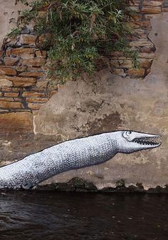 Aquatic Graffiti with Old World Charm