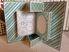 Craftin with HappiLeaStamppin: Fancy Fold Card, inside view using Winter Frost Specialty DSP from Stampin' Up!