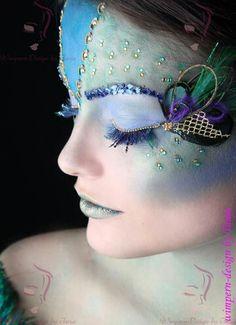 Pfau Shooting  Lash Art 2016 London Fotowettbewerb  #pfau #lashart #shooting #lashes #wimpern #grün #blau #make-up #makeup #colourful #pallietten