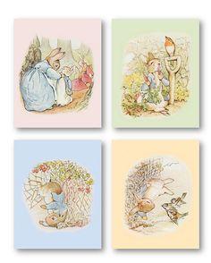 Peter Rabbit Nursery Decor // Baby Nursery Art by LittlePergola