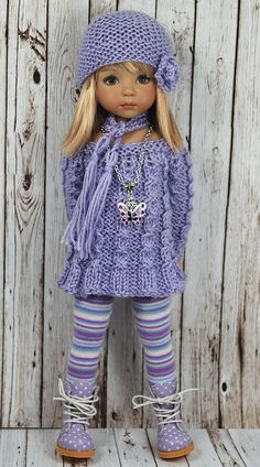 42 New Ideas Crochet Doll Clothes American Girl Sweaters Crochet Doll Clothes, Knitted Dolls, Doll Clothes Patterns, Girl Doll Clothes, Crochet Dolls, Barbie Clothes, Girl Dolls, Baby Dolls, American Girl Outfits