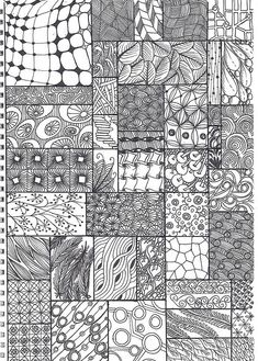 Zentangle Doodle Patterns | doodle - zentangle pattern sheet by krochetokikai