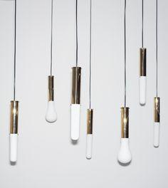 Shades for the brass Make Lamp by Hanieh Heidarabadi can be custom 3D-printed