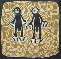 "Linda Syddick Napaltjarri, ""Ancestors – Tjarli and Rintje Tjungurrayi,"" acrylic on linen, 60 x 60 cm. Japingka Gallery, Fremantle."