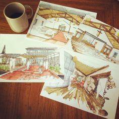 #coffeesketch for historic Austin church renovation master plan