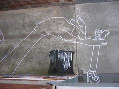 來欣賞一下街頭藝術家Buff Diss的膠帶繪畫作品期待一下即將到來的假期吧!, 簡練而明確的線條讓原本熟悉的角落變得頓時鮮活了起來呢!!