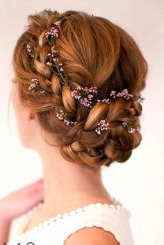 One of the most gorgeous prom hairstyles! Gorgeous prom hairstyles for long hair and short hair! These braids, waves, curls or braids will all look amazing in your hair for prom day especially if you need prom hairstyle ideas for really long hair. Wedding Hairstyles With Crown, Prom Hairstyles For Long Hair, Fancy Hairstyles, Braided Hairstyles, Hairstyle Ideas, Braided Updo, Bun Braid, Best Hairstyles, Easy Homecoming Hairstyles