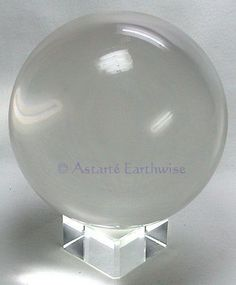 CLEAR CRYSTAL BALL WITH STAND 110 mm Wicca Witch Pagan Goth DIVINATION SCRYING #Crystals