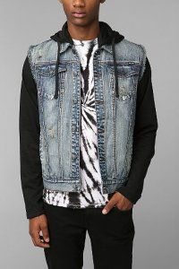 Kill City Contrast Sleeve Denim Jacket