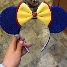 Minnie Mouse Ears These adorable Snow White inspired Minnie Mouse Ears are perfect for your trip to Disney World or Disney Land! They are comfortable enough to wear all day and even use as a head band! Accessories Hair Accessories