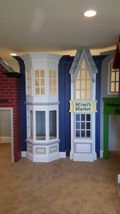 We don't call it Classic for nothing. This timeless Classic Storefront Playhouse will never go out of style. Custom designed by Tanglewood Design. Kids Church Decor, Outdoor Play Structures, Cool Kids Bedrooms, School Murals, Store Fronts, Play Houses, Timeless Design, Office Decor, Kids Room