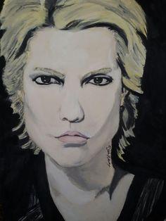 """""""あなたのことを考えて 。。。ええと。。 私の心にあなたを描きたいです!  ☺ so...私の心にあなたを取りますよ !"""" 水彩画 by デボラ~♡ """"My heart draws a dream...""""   """"ねぇ こうして君を想うだけで この胸は煌めいている いまでも いまでも"""" Vampire's love   #描画 #スケッチ #watercolorart #painting #artist  #Hyde #mydrawing #graphic #sketch #details #love #japan #lovelovelove #HydeTakarai #mywork #ヴァンパイア #larcenciel #HidetoTakarai #Hydeさん #ハイドさん #Vamps #寶井秀人 #水彩画 #onpaper #illustration @hydeofficial @vamps_insta #ラルク #larcenciel"""