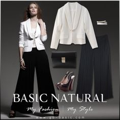 Tailored lapel fitted blazer & Wide Leg Pleated Trouser
