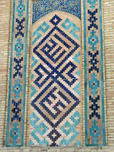 Khast Imam Mosque, Tashkent, Uzbekistan Islamic Tiles, Islamic Art, Islamic Architecture, Art And Architecture, Islamic Patterns, Blue Tiles, Silk Road, Mosque, Civilization