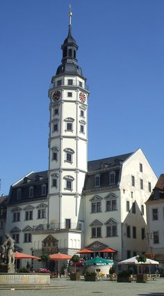 Stadhuis (City Hall) Gera (Duitsland, Germany)