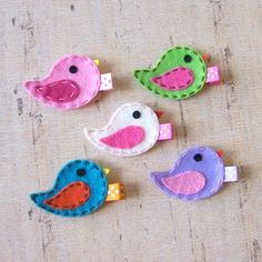 Felt Bird Baby Hair Clip from Etsy