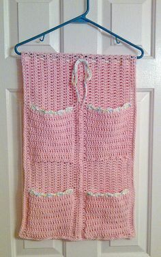 Ravelry: Closet Organizer pattern by Beverly Button Crochet Home, Love Crochet, Crochet Gifts, Crochet Motif, Crochet Designs, Crochet Yarn, Crochet Patterns, Crochet Organizer, Crochet Storage