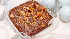 Indulgent Salted Caramel and Almond Crunch Brownie Recipe