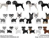 Honden en vrienden digitale clip art deel 10 voor persoonlijk en commercieel gebruik - INSTANT DOWNLOAD