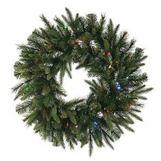 Vickerman PreLit Cashmere Pine Wreath with 100 Warm White Italian LED Lights 48Inch Green * You can get more details by clicking on the image.