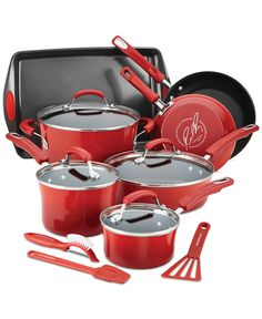 Explore new dishes, whip up old favorites & have fun in your space with sturdy pots and pans with durable nonstick interiors for superior food release, comfortable double-riveted handles for a secure