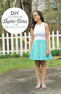 Here is a quick DIY 10 minute Skater Dress tutorial that you can sew in a jiffy for you and the little lady in your life this spring. Sewing Alterations, Dress Tutorials, Dress Sewing Patterns, Diy Dress, Sewing For Kids, Cute Dresses, Girls Dresses, Skater Dress, Diy Clothes