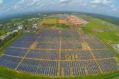 W Indiach jest lotnisko zasilane w stu procentach energią słoneczną